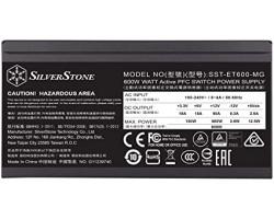 БП SilverStone 600W Strider Essential Gold SST-ET600-MG ATX 2.4 (24+2x4+2x6/8+3x4pin) Fully Modular, 80 Plus Gold ,APFC,135mm FAN