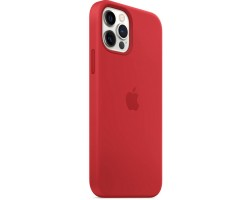 Аксессуары для iPhone APPLE MHL63ZM/A iPhone 12 | 12 Pro Silicone Case with MagSafe - (PRODUCT)RED