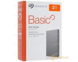 """Внешний жесткий диск 2.5"""" 2TB Seagate Basic (STJL2000400) Gray"""