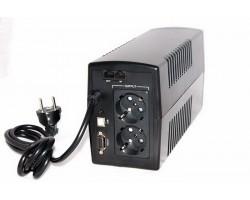 ИБП ИМПУЛЬС ЮНИОР СМАРТ 600 (аналог Ippon Back Basic 650 Euro), 600/360 ВА/Вт, LED, SCHUKOx2 (~230В, АКБ 1х7Ач), напольный Источник бесперебойного питания
