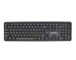 Клавиатура ExeGate LY-331L, USB, шнур 2м, черная, 104кл, Enter большой, Black EX279940RUS