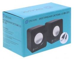 Колонки Oklick OK-331 2.0 черный 6Вт USB