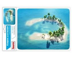 Коврик для компьютерной мыши Buro BU-M10017 рисунок/остров