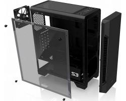 Корпус ATX Без БП Zalman S3 TG Black , окно стекло