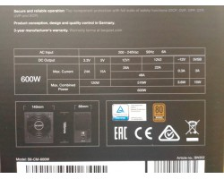 БП be quiet! 600W System Power 9 (BN302) ATX (24+2x4+4x6/8пин) Cable Management , 80 PLUS Bronze , APFC , 120mm FAN