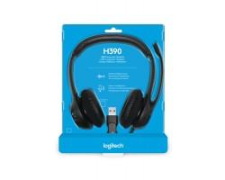 Logitech USB Headset H390 <981-000406, Black>