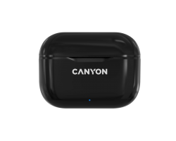 TWS Bluetooth гарнитуры CANYON CNE-CBTHS3B Canyon TWS-3 Bluetooth headset, with microphone, BT V5.0, Bluetrum AB5376A2, battery EarBud 40mAh*2+Charging Case 300mAh, cable length 0.3m, 62*22*46mm, 0.046kg, Black