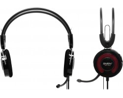 Наушники с микрофоном SVEN AP-540 black-red