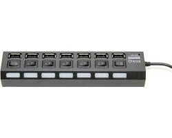 Концентратор USB 2.0 5bites HB27-203PBK