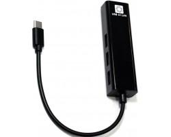 Сетевая карта / USB-концентратор 5bites UA3C-45-09BK