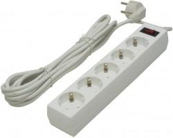 Сетевой фильтр Defender ES 5 White 99483 (5 метров, 5 розеток)