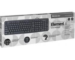 Клавиатура Defender Element HB-520 Black (45522)