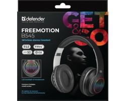 Беспроводная гарнитура Defender FreeMotion B545 черный, LED, Bluetooth 63545