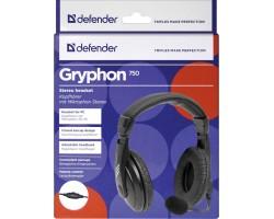 Наушники с микрофоном Defender Gryphon 750 63750