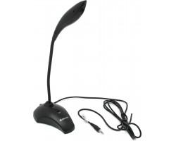 Микрофон компьютерный Defender MIC-115 черный, кабель 1,7 м 64115