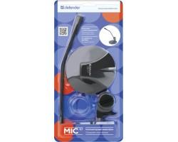 Микрофон компьютерный Defender MIC-117 черный, кабель 1.8 м 64117