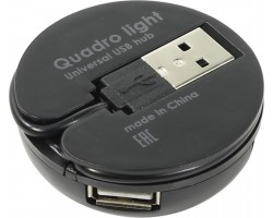 Концентратор USB 2.0 Defender Quadro Light USB 2.0 83201