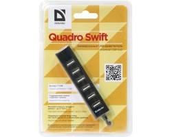 Концентратор USB 2.0 Defender Quadro Swift USB 2.0 83203