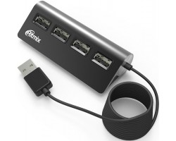 Концентратор USB 2.0 Ritmix CR-2400 black