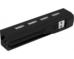 Концентратор USB 2.0 Ritmix CR-2406 black