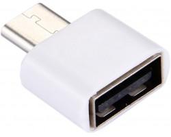 Адаптер USB 2.0 OTG A - C белый