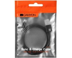 Кабель Lightning - USB CANYON CNE-CFI1B (1 метр)