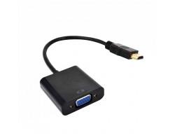 Переходник с HDMI на VGA (Full HD) + audio (питание miсroUSB)