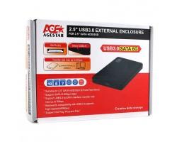 """Бокс для жесткого диска 2.5"""" AgeStar 3UB2P2-Black (USB 3.0)"""