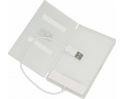 "Бокс для жесткого диска 2.5"" AgeStar SUBCP1-White (USB 2.0)"