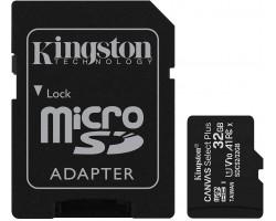 Карта памяти microSDHC Kingston Canvas Select Plus SDCS2/32GB (32 Гб, A1, V10, UHS-I Class 1 (U1), Class 10)
