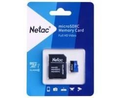 Карта памяти microSDXC Netac NT02P500STN-064G-R (64 Гб, A1, V10, UHS-I Class 1 (U1), Class 10)