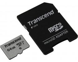 Карта памяти microSDXC Transcend 300S TS64GUSD300S-A (64 Гб, UHS-I, Class 10)