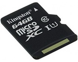 Карта памяти microSDXC Kingston SDC10G2/64GBSP (64 Гб, UHS-I, Class 10)