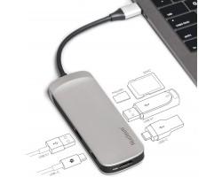 Память Flash KINGSTON C-HUBC1-SR-EN KINGSTON Nucleum USB Hub Ports: Type-C, Type-A, HDMI, SD, microSD
