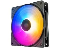 Вентилятор Deepcool RF120 FS (4пин, 120x120x25мм, 27дБ,500-1500об/мин,Rainbow LED)