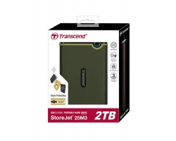 Внешний жесткий диск Transcend StoreJet 25M3 TS2TSJ25M3G 2Тб