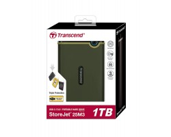 Внешний жесткий диск Transcend StoreJet 25M3 (TS1TSJ25M3G) 1Тб