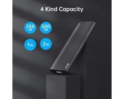 Внешний накопитель SSD USB3.2 Netac 250GB Z Slim (NT01ZSLIM-250G-32BK) Black Type-C