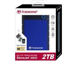 Внешний жесткий диск Transcend StoreJet 25H3 (TS2TSJ25H3B) 2Тб
