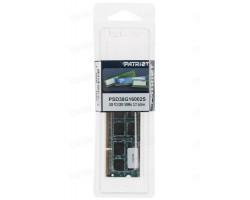 Оперативная память SODIMM DDR3 8Гб 1600МГц PATRIOT PSD38G16002S