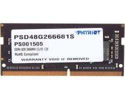 Оперативная память SODIMM DDR4 8Гб 2666МГц PATRIOT PSD48G266681S