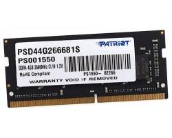 Оперативная память SODIMM DDR4 4Гб 2666МГц PATRIOT PSD44G266681S