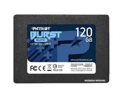 "Накопитель SSD 120 Гб SATA PATRIOT Burst Elite PBE120GS25SSDR (3D QLC, 2.5"")"