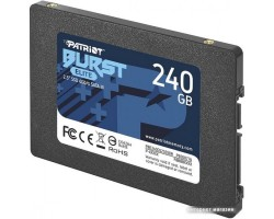 "Накопитель SSD 240 Гб SATA PATRIOT Burst Elite PBE240GS25SSDR (3D QLC, 2.5"")"