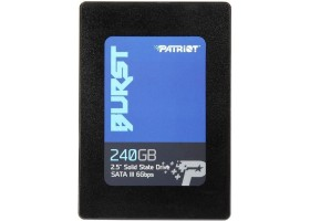 "Накопитель SSD 240 Гб SATA PATRIOT Burst PBU240GS25SSDR (3D TLC, 2.5"")"