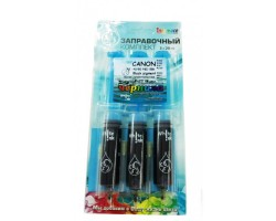 Заправочный комплект WhiteInk ink-mate CANON PG-40/50 PGI-5BK Black pigment 3x20 ml