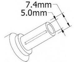 Кабель питания ноутбука DELL / HP / COMPAQ. Штекер 7.4*5.0 мм 3-pin